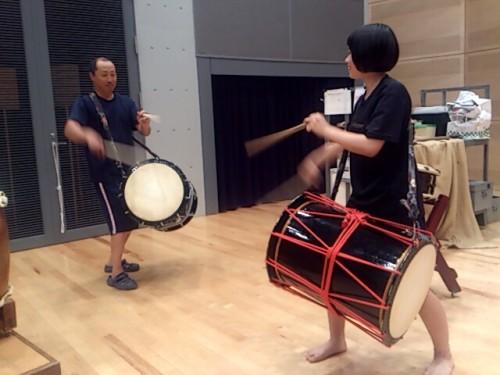 太鼓の指導3