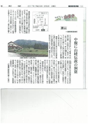 中国新聞の掲載