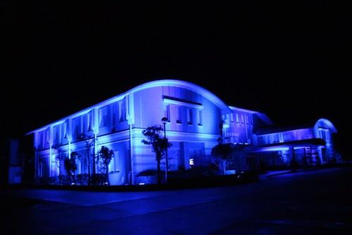 ライトアップ庁舎